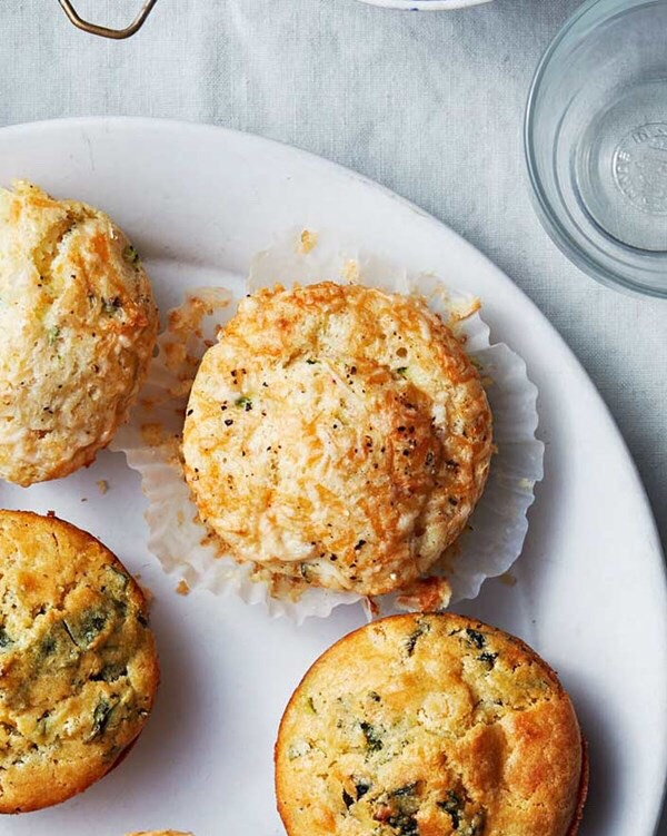 Gruyere adds a rich nuttiness to these savory muffins.  Prep: 15 mins Total Time: 1 hour 15 mins Yield: Makes one dozen
