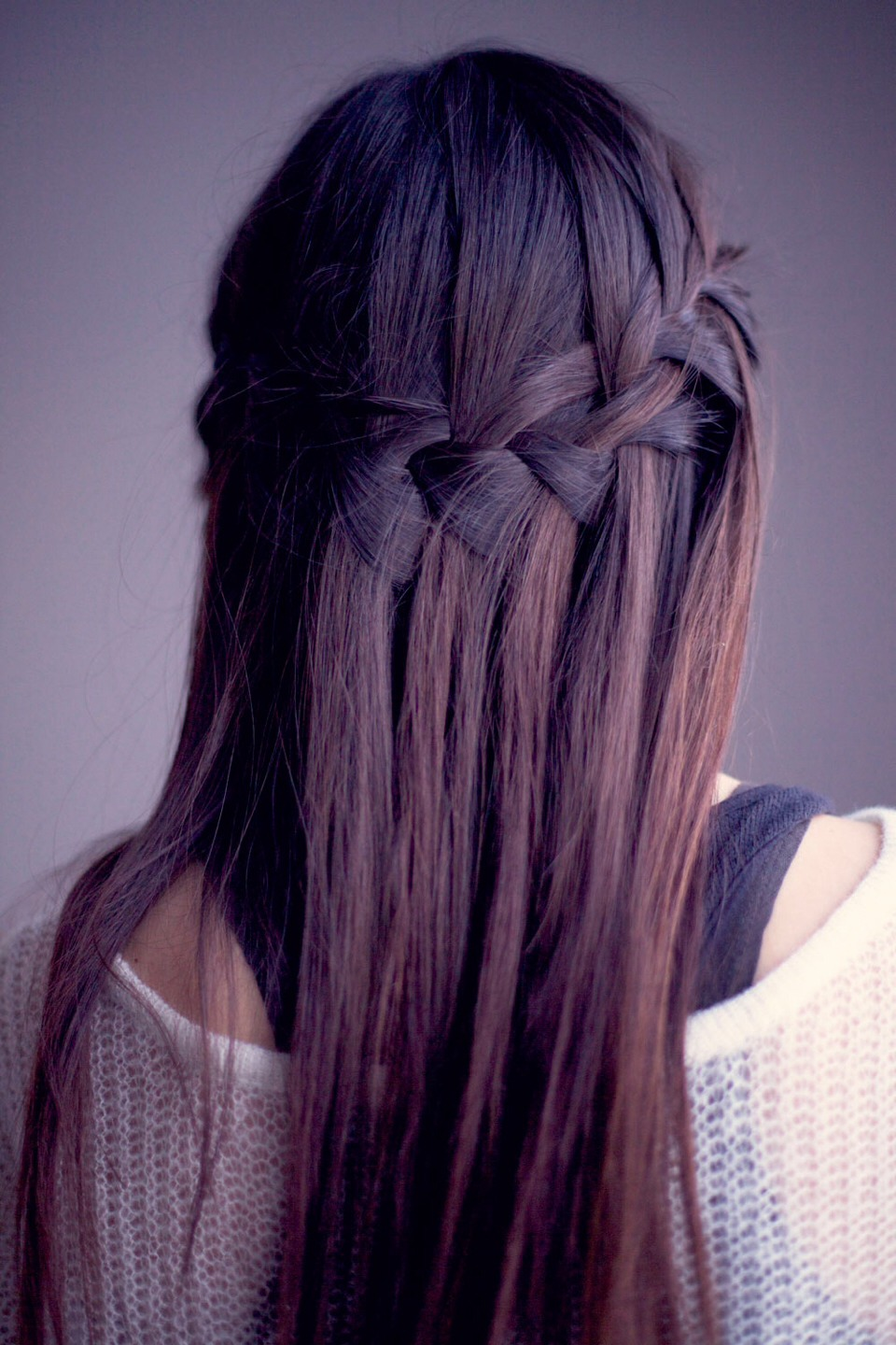 This is how to make a water fall braid!