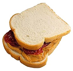 2- put peanut butter on both breads and then the jelly in the middle to keep the bread for turning soggy 😎