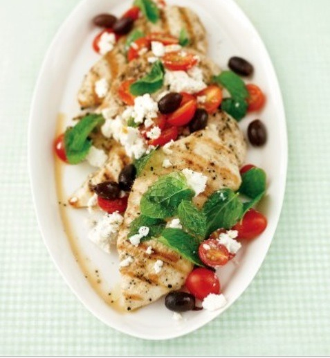Topping this dish with tomato, feta, olives and fresh mint are an ultimate eye catching garnish!!