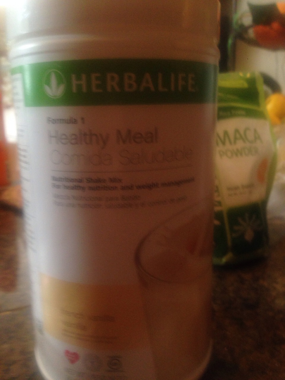 Two scoops of herbalife meal replacement