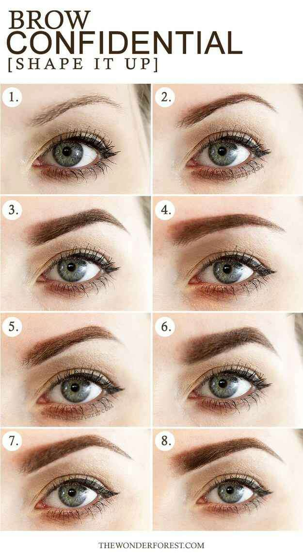 3. Here they are on a person IRL. Thicker brows can add more impact to a face while slightly thinner brows can give a delicate look.