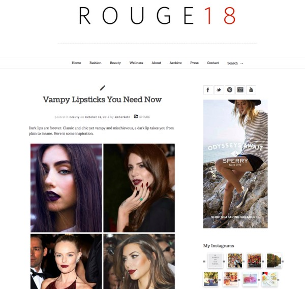 "6️⃣Rogue 18: ""creator Amber Katz is all about up-to-the-minute information from the beauty industry. For a quick catch-up on the latest in beauty, this is your destination."""