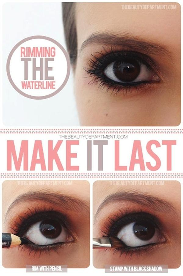 7. Make your waterline liner last longer by also using black eye shadow.
