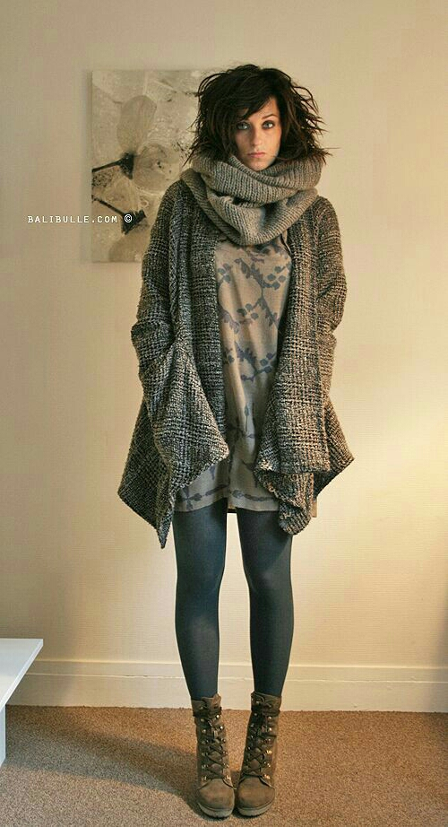 Throw on big scarf to pull together any fall ensemble!