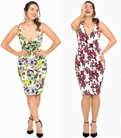 (Curvestokill.com, Lala Belle clothes line: http://lalabelle.com.au/collections/dresses/products/summer-print-stretch-cotton-dress, although it's VERY expensive you can use it as inspiration for a bodice-like floral dress!)