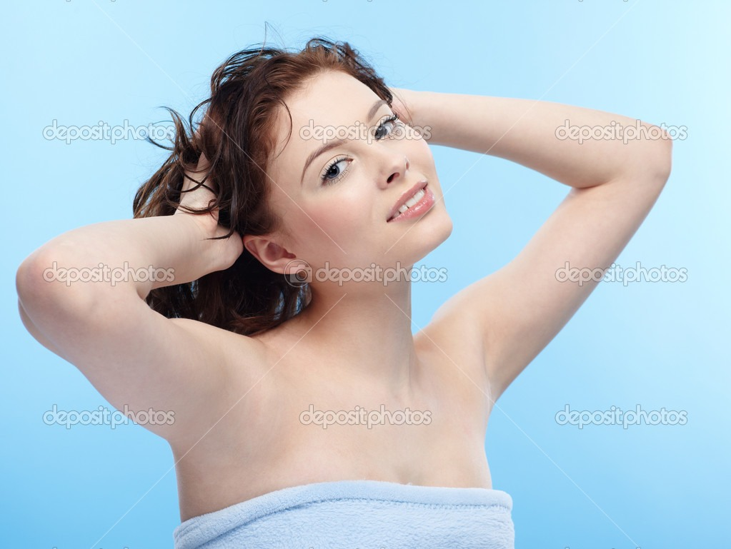 Hair Care Tip---Your hair is weak when it's wet, so never rub your hair dry with a towel.  Instead, blot the wetness out with a towel and fluff it with your fingers.