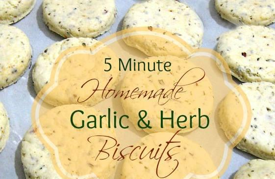 For this recipe you can skip all of the garlic and herbs if you wish to have a basic plain biscuit.