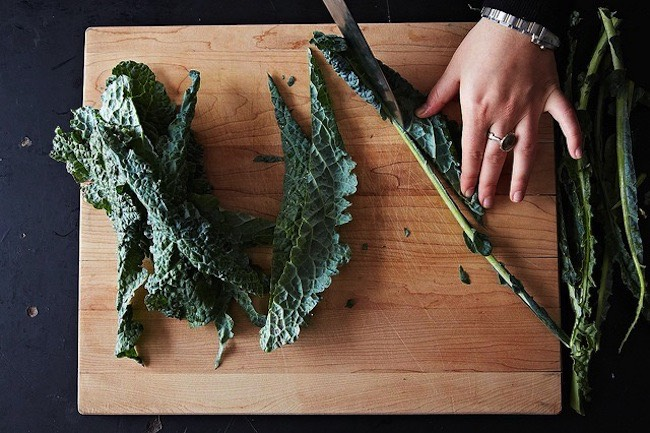 Kale stems: Kale stems can be pickled, added to smoothies for extra fiber or dried and ground up then combined with salt for a great DIY seasoning.