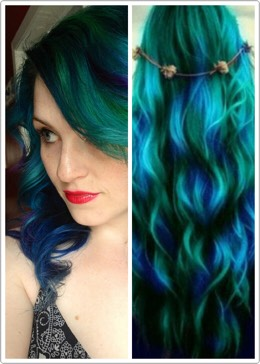Peacock or mermaid? These colors look amazing together!!