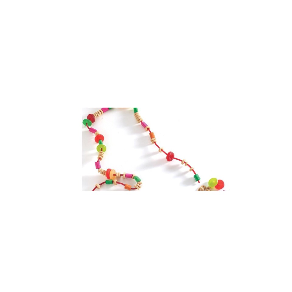 make an edible necklace/bracelet. these are great because it keeps your kids from complaining about how hungry they are and they are totally customizable and you can put anything you want on them, you just take string and food with holes and slid them on than tie a knot at the end.