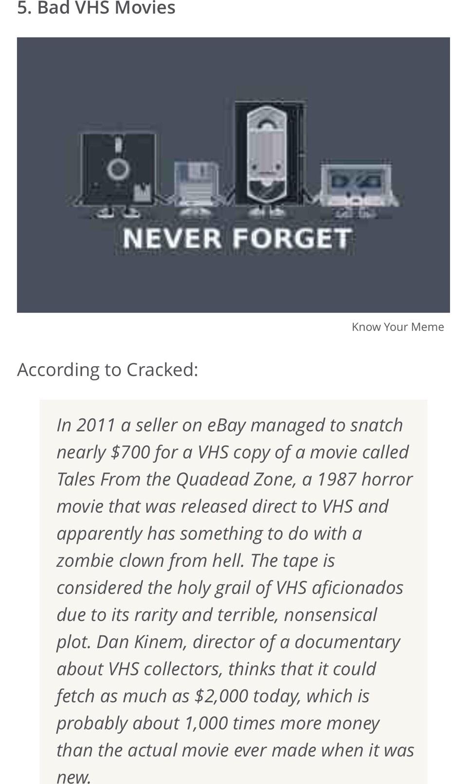 5. Bad VHS Movies
