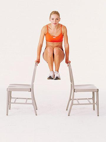 Advanced Moves Knee-Ups Targets: rectus abdominus