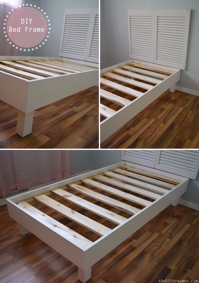 Make the bed frame and just add a mattress and add a bed spread of your choice.