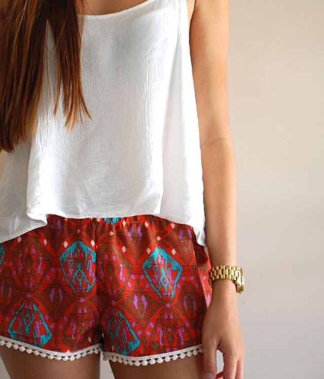 14. PATTERNED SHORTS Billowy, patterned shorts are so on trend this summer.