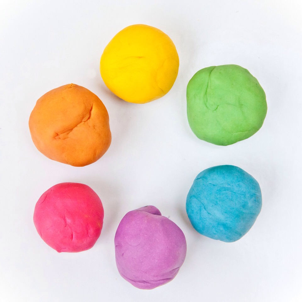 Use play dough to pick up broken glass. Just make sure you get it in there good and then throw away so no kids try to play with it and the broken glass