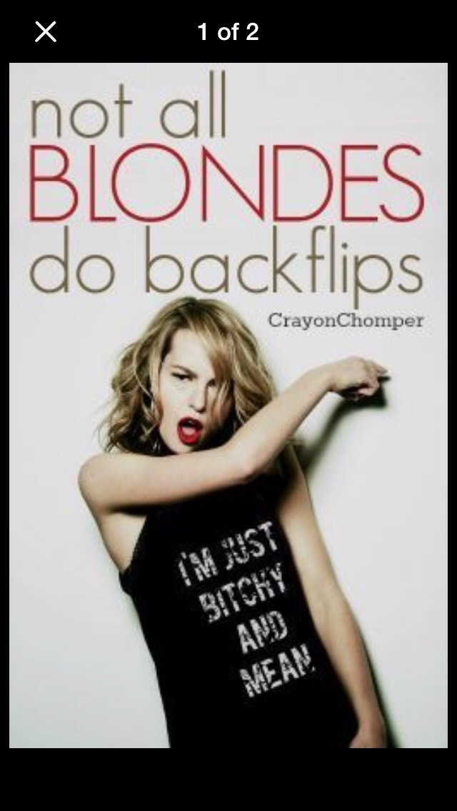 Not all blondes do backflips by Crayon Chomper