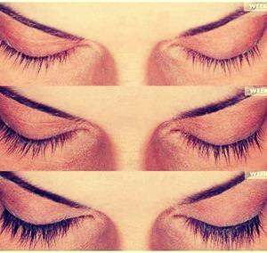 Every night rub Vaseline on eyelashes to make them grow.