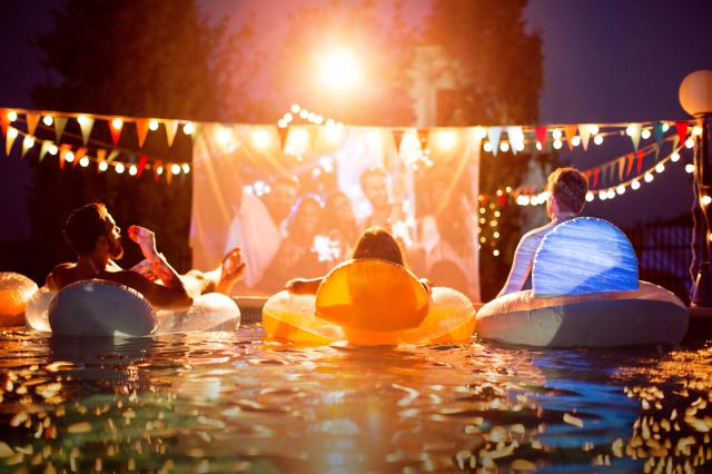 have a night or day time pool party.. I think it's cooler at night