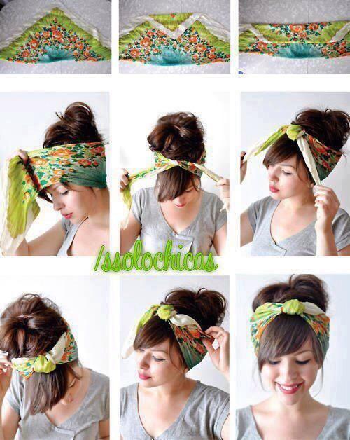 Transform a small scarf into an adorable boho headband.