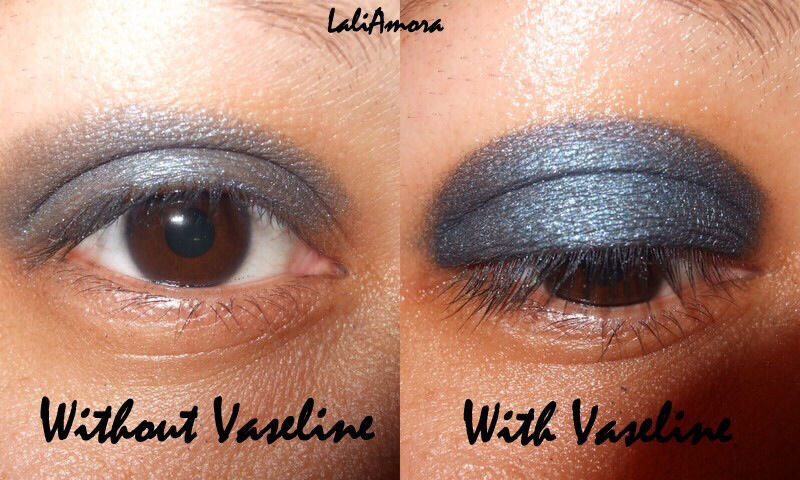 Putting Vaseline on your eyelids before putting eyeshadow on will help the colour be more vibrant and stay on for longer.