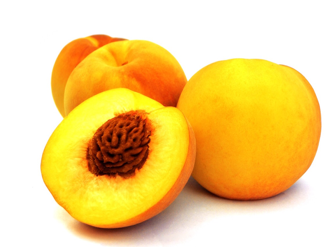 Peaches contain vitamin C and A. Eating peaches can help brighten the skin with a more youthful glow. If wrinkles are your problem, peaches are your fruit. Consuming peaches throughout your week can help reduce the look of and prevent wrinkles