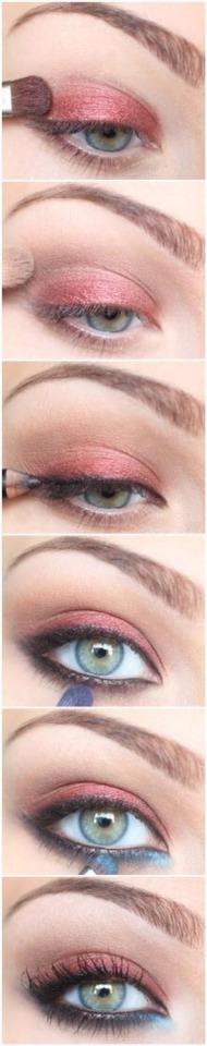 Autumn shimmer eye makeup guide