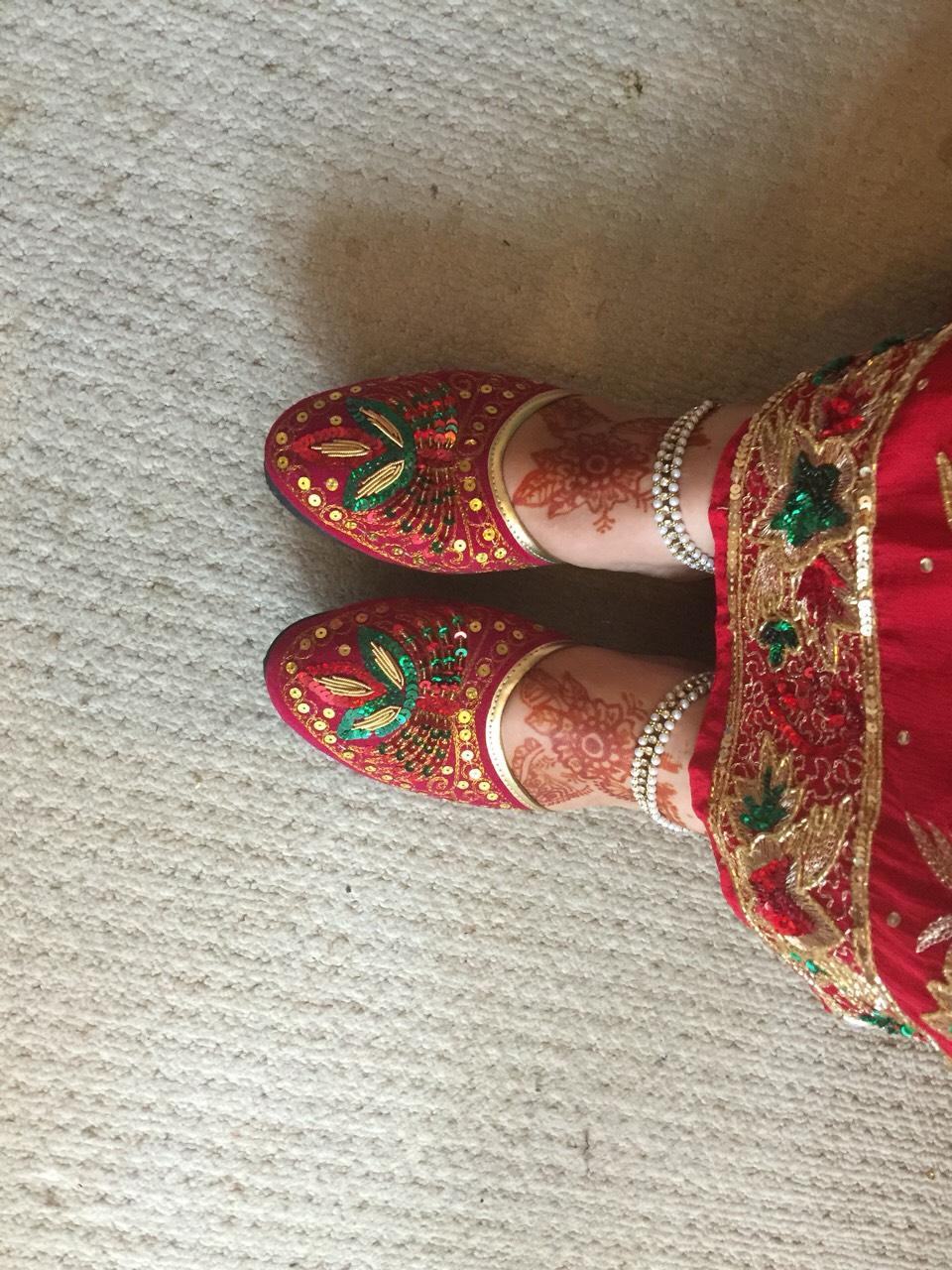 Nepali wedding - mehandi of foot