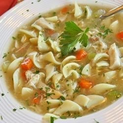 Eat chicken noodle soup.  How would something so classic not make the list? Chicken noodle soup offers some nice, gentle, easily digestible nourishment.