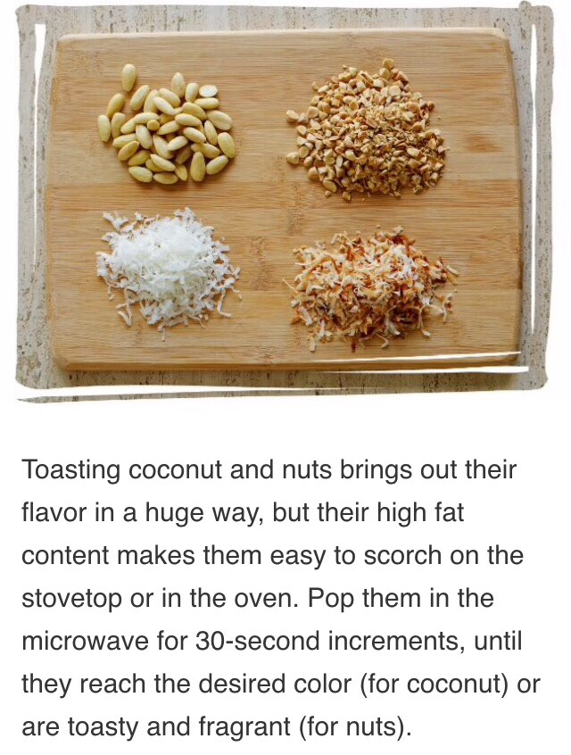 Toasting Shredded Coconut and Nuts