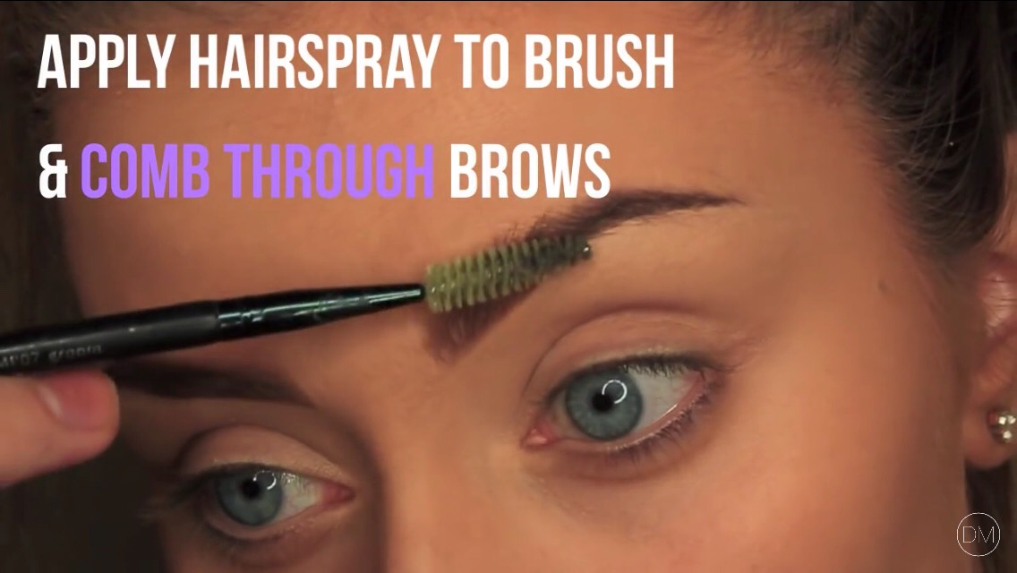 #3) don't have eye brow glew all you need to do it get some hair spray and an eye brow brush sprey the brush with the hair sprey then simply brush your brows for a long lasting hold 😻🎀💕