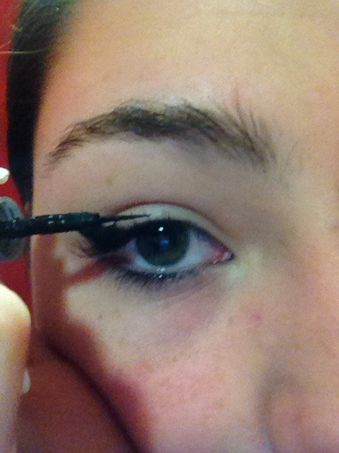 This part can be tricky if you aren't that well at using eyeliner. You will then line the top of your eyelid as thick or thin as you like.