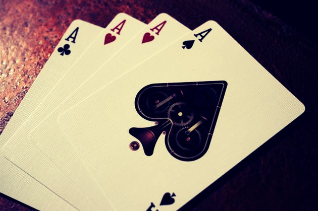 how to keep playing cards from sticking