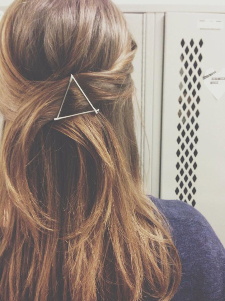 BOBBY PINS-they're just great. Lazy girl's lifesaver