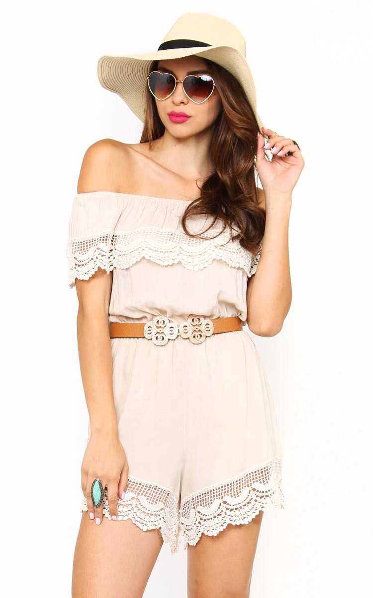 Summer outfit 2, over the shoulder romper.