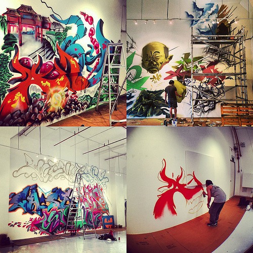 If you own your house, dedicate a wall to graffiti! Whenever you're feeling creative, feel free to paint whatever you wish onto the wall.