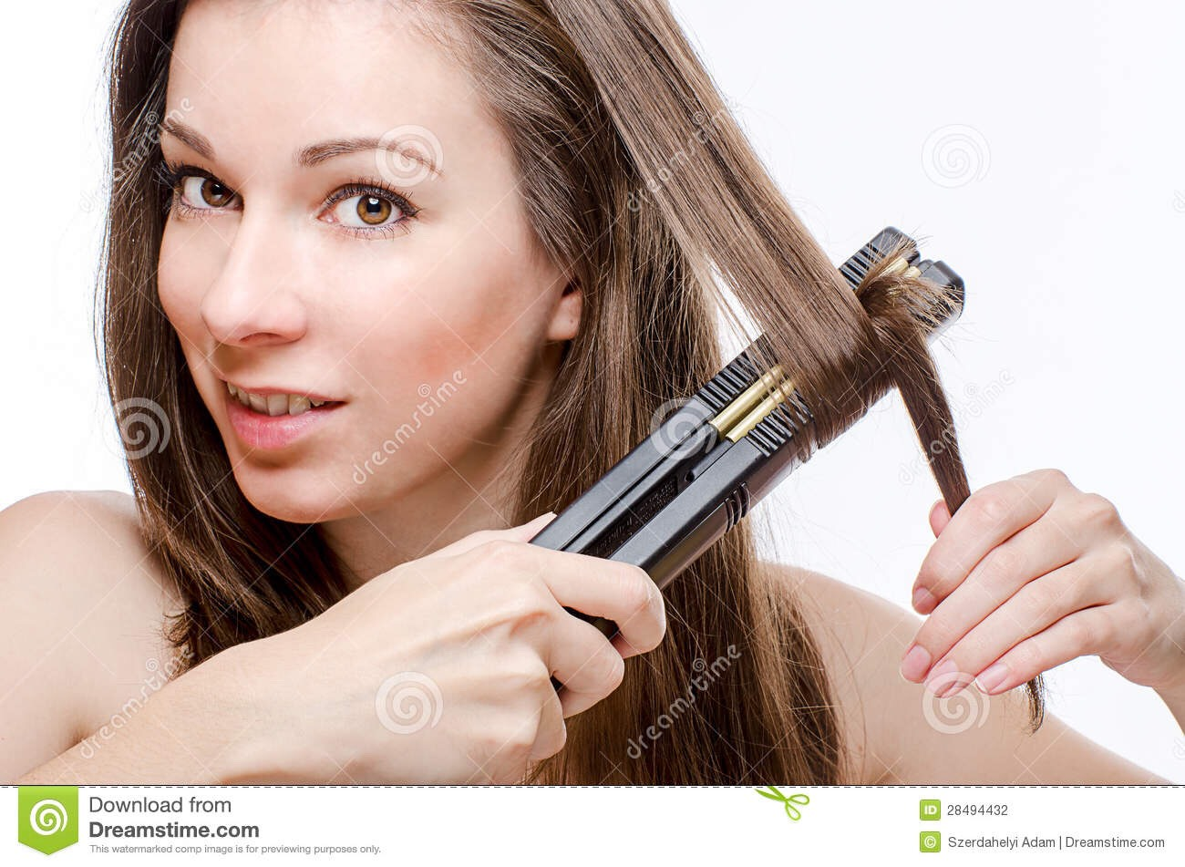 Step one: part your hair  Step two: rotate the straightener completely around   Step three: enjoy your curls!