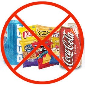 Get rid of all the junk food In your house . Meaning no chips , no candy , no sugar , no soda , etc .