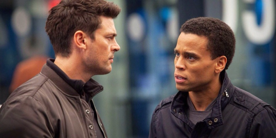 """9. """"Almost Human"""" (Fox)  What it's about: Thirty-five years in the future, all LAPD officers are partnered with highly evolved human-like androids."""