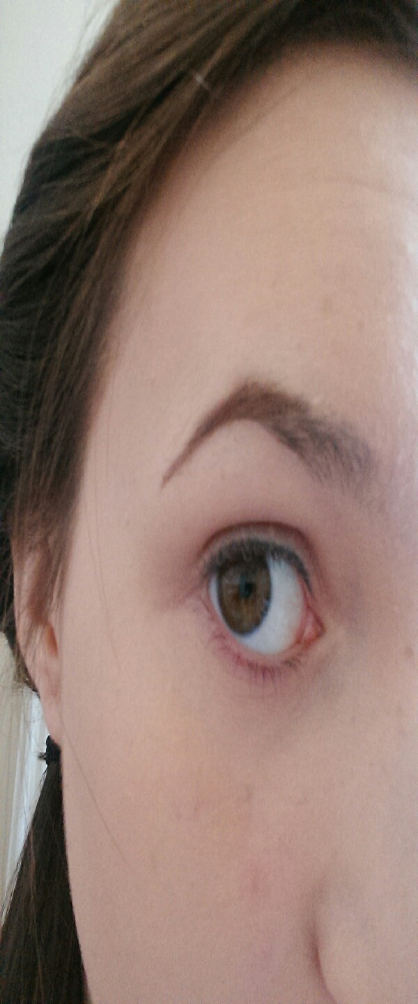 apply the darker shade onto the bridge of the eyebrow, and down to defy the brow.