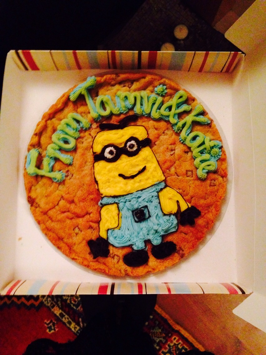 A giant birthday cookie!