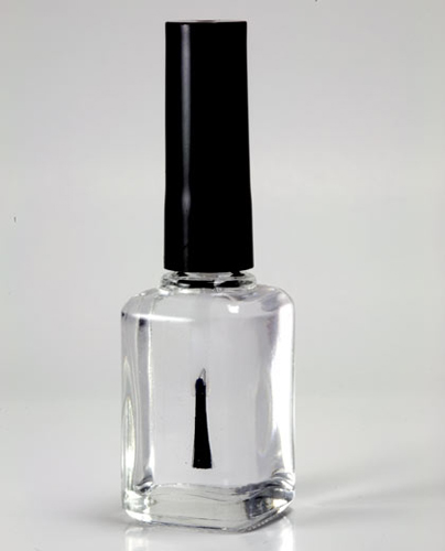 put the eyeshadow dust into the clear nail polish and shake until the color spreads 💅
