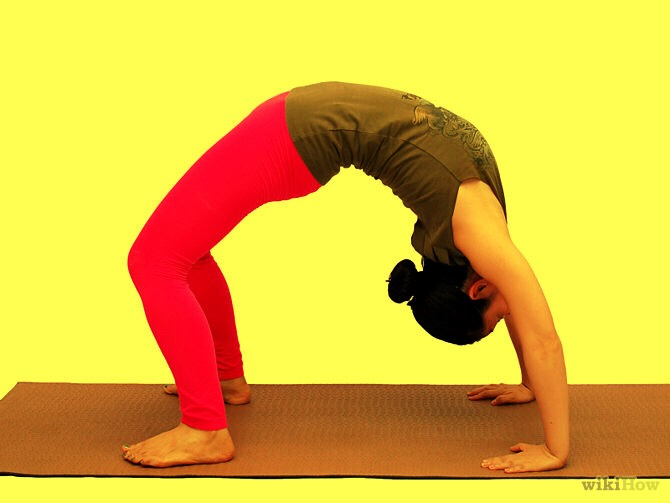 for example doing bridges (just like the picture above) helps your back get use to the feeling of being flexible.