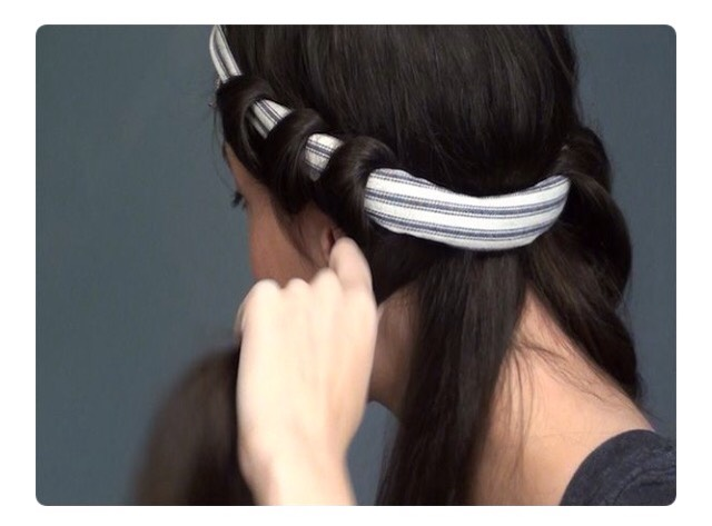 Headband Curls: start with Damp Detangled hair. Wrap your hair around the headband for beautiful heatless curls.