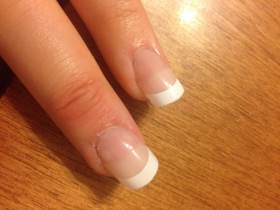 *optional* I applied fake nails so they would be longer than mine actually were, and also, a bigger canvas!
