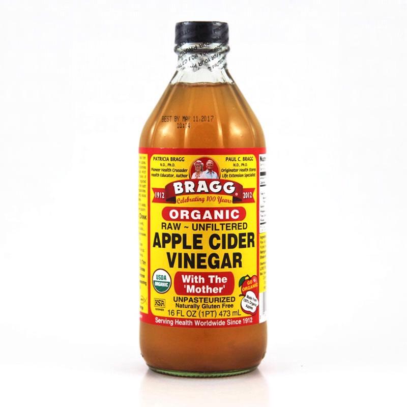 2 cups of apple cider vinegar  Apple cider vinegar make your hair softer, shinier, and it lightens your hair.