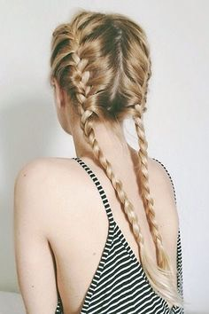 French braids are good for school, your hair will stay in place and won't get tangled