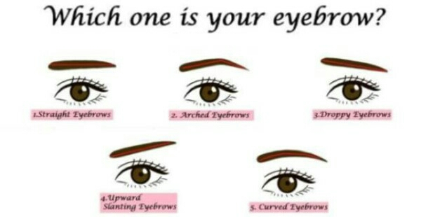 Find out what your eyebrow says about your personality!