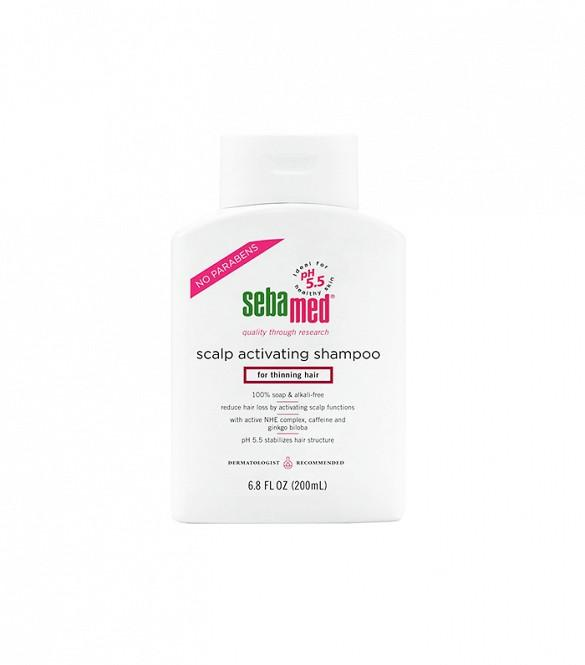 Step Up Your Sulfate-Free Shampoo Sebamed's Scalp Activating Shampoo ($18),pH-balanced wash