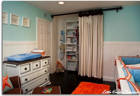 11. If you live in a small space, replace traditional closet doors that swing out with curtains or hanging screens. Beads are also a great way to spice it up!